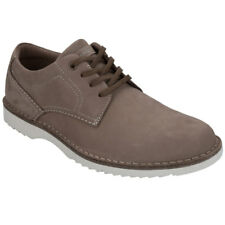Rockport Cabot Plain Toe Mens UK 7 EU 40.5 Taupe Leather Lace Up Shoes  FREE P&P