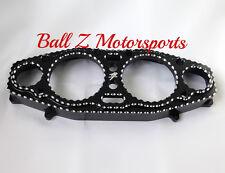 99-07 Hayabusa Black/Silver Engraved 3D Ball Cut Speedometer Gauge Cover Bezel!!
