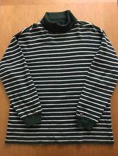 Vintage TOMMY HILFIGER Golf Green Turtle Neck Sweater 100% Cotton Men XL
