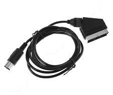 Black C Pin RGB Scart AV Cable TV Console Lead for Sega Mega Genesis Model 1