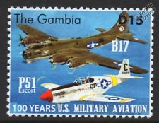 WWII B-17 FLYING FORTRESS & P-51 MUSTANG US Militiary Aviation Aircraft Stamp