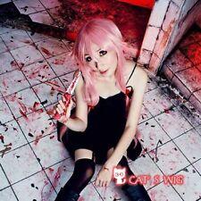 The future diary Gasai Yuno pink Cosplay wig