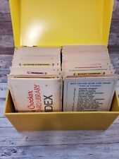 The Betty Crocker Recipe Yellow Box with cards 1971