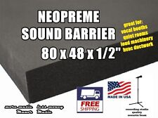 "SOUND BARRIER 80x48x1/2""recording studios, soundproof automotive, acoustic foam"