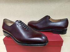 NEW $995 Salvatore Ferragamo Tramezza Carmelo Pebbled Oxford Shoe- 10 D