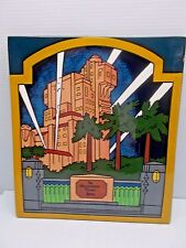 Disney Tower of Terror Twilight Zone Elisabete Gomes Hand-Painted Tile LE VHTFc