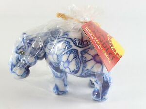 New Handmade Swaziland Fair Trade SWAZI Hippopotamus African Psychedelic Candle