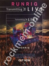 Runrig Transmitting Live LP Advert