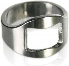 New Stainless Steel Finger Thumb RING Beer Bottle Opener Chrome Key Ring - UK