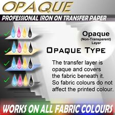 [OW] 6 Sheets Blank IRON ON HEAT TRANSFER INKJET PRINTER PAPER DARK SHIRT FABRIC