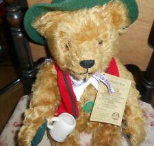 "Hermann 16""  Teddy Bear & stein, plays Edelweiss- music box inside"