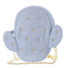 LB-93-2 Cactus Blue Terry Cloth Stars Embroidered Ladies Small Cloack Bag Kawaii