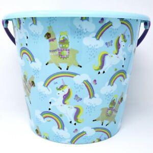 Unicorn Llama JUMBO Plastic Trick Or Treat Bucket Easter Party Favors Basket
