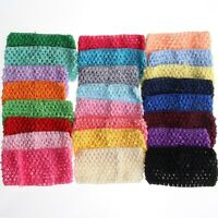 50PCS 7CM Knit Headband For Hair Accessories Hollow Out Elastic Hairband Head