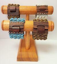 Brown Color Wood Bracelet Display