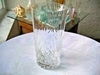 Beautiful Clear Crystal Highball Glass Maker Unknown