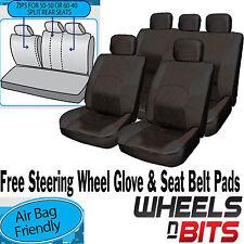 Mitsubishi Carisma Eclipse todos Paño Negro cubierta de asiento completo set de asiento trasero dividido