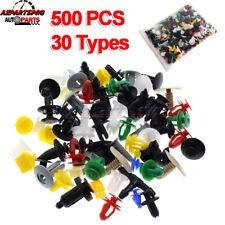500Pcs Mixed Auto Car Door Plastic Fastener Clips Panel Bumper Fender Trim Rivet
