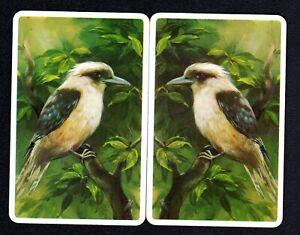 Vintage Swap Cards - Lovely  Mirrior Image Kookaburra Pair (BLANK BACKS)