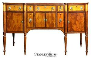 SWC-Federal Carved Mahogany and Birds-eye Maple inlaid Sideboard