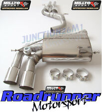 Milltek SSXAU277 Audi RS3 8P Exhaust Cat Back Resonated Quieter Polished Tails