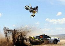 KEN BLOCK MONSTER ENERGY MOTOCROSS MOTORBIKE Photo Poster Print A3 260GSM