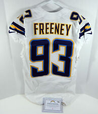 2013 San Diego Chargers Dwight Freeney #93 Game Issued White Jersey SDC00089