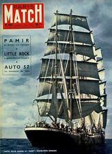 PARIS MATCH Auto 1957 Pamir Robinson Fangio Elsa Martinelli