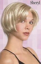 Blonde Chin-Length Page Style w/Bangs - Sheryl Hairdo