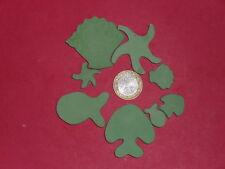 170 grammes de mosaïque plâtre vert (forme de la mer)