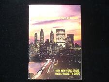 1974 New York Stars WFL Media Guide EX