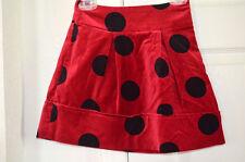 NWT THE CHILDREN'S PLACE Red and Black Polka Dot Velveteen Skirt Size 5 (TCP)
