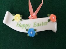 HAPPY EASTER Longaberger Basket Tie On NEW