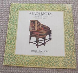 """A BACH RECITAL 12"""" Vinyl Record"""