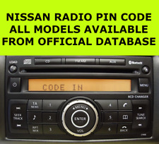 Nissan Radio Code Pin Clarion Micra Note Qashqai Almera Juke Connect FAST Unlock