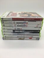 Xbox 360 Games Lot of 8 Assassin's Creed Call Of Duty Madden Rainbow 6 Vegas 2