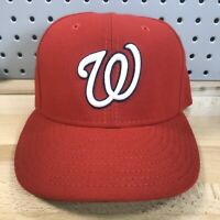 Washington Nationals MLB Baseball New Era 59FIFTY Fitted Red Hat Size 7-1/8 Cap