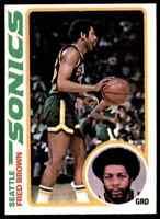 1978-79 TOPPS BASKETBALL SET BREAK FRED BROWN SEATTLE SUPERSONICS #59