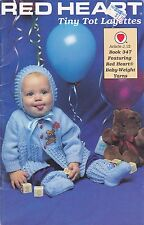 Crochet Pattern ~ Red Heart Tiny Tot Layettes ~ Booklet 347