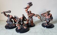 dungeons and dragons miniatures lot ogre(3)ettin(1)/pro-painted/pro-modified/new