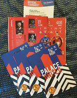 CRYSTAL PALACE v MANCHESTER UNITED P/LEGUE PROGRAMME+T/SHEET 3/3/21 LAST 2 ITEMS