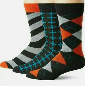 Hanes Mens Premium Socks SZ 6-12 3 Pairs Better Fit with Spandex Cool Designs