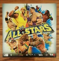 Store Display Sign WWE ALL-STARS 2011 THQ Video Game Promo 24x24