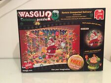 Wasgij Christmas Puzzle 'Santa's Unexpected Delivery!' Box & puzzle inMint cond.