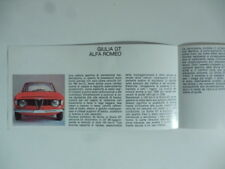 Giulia GT Alfa Romeo. Pieghevole pubblicitario, inizi anni Settanta