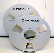 "2 x PIONEER LOGO METALLO NAB HUB Mulinello a bobina 10.5 ""X 1/4"""