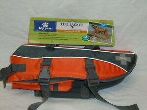 New Top Paw Red Life Jacket Vest Size Medium Dogs 30-55 lbs Reflective FREE SHIP