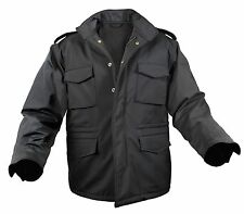 Rothco SMALL BLACK New Military Style Soft Shell Tactical M-65 Field Jacket 5247