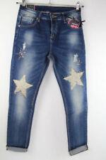 Und/- Normalgröße Fetzen Damen-Jeans mit hoher Bundhöhe