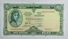 {Do702C} Central Bank of Ireland One Pound Banknote